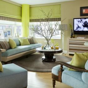 цветовая гамма для гостиной оформление фото