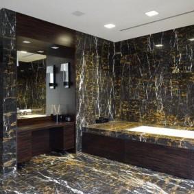 декоративный камень в ванной фото