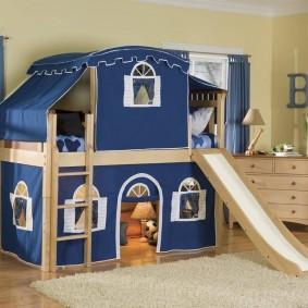необычная детская кровать чердак