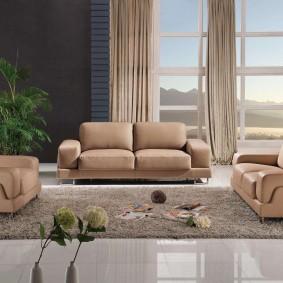 диван в гостиную декор фото