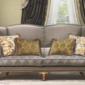 диван в гостиную фото оформление