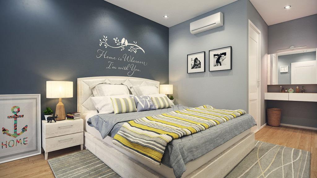 дизайн спальни с ламинатом