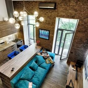 Лофтное оформление интерьера квартиры