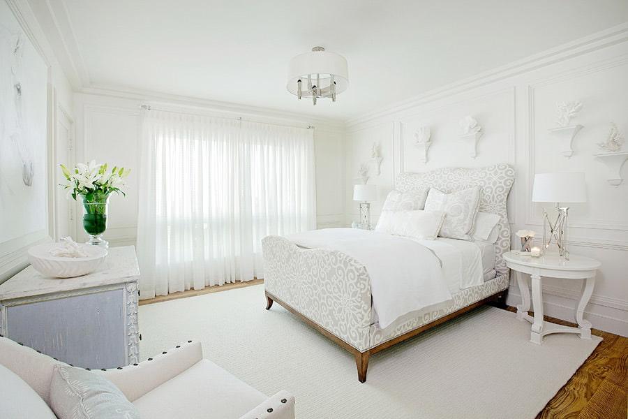 фото белой спальни