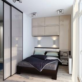 Встроенная мебель для маленькой спальни