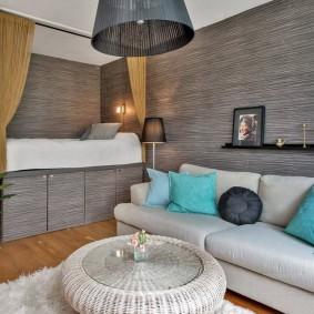 Отделка квартиры серыми панелями