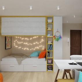 Встроенная кровать для ребенка дошкольного возраста