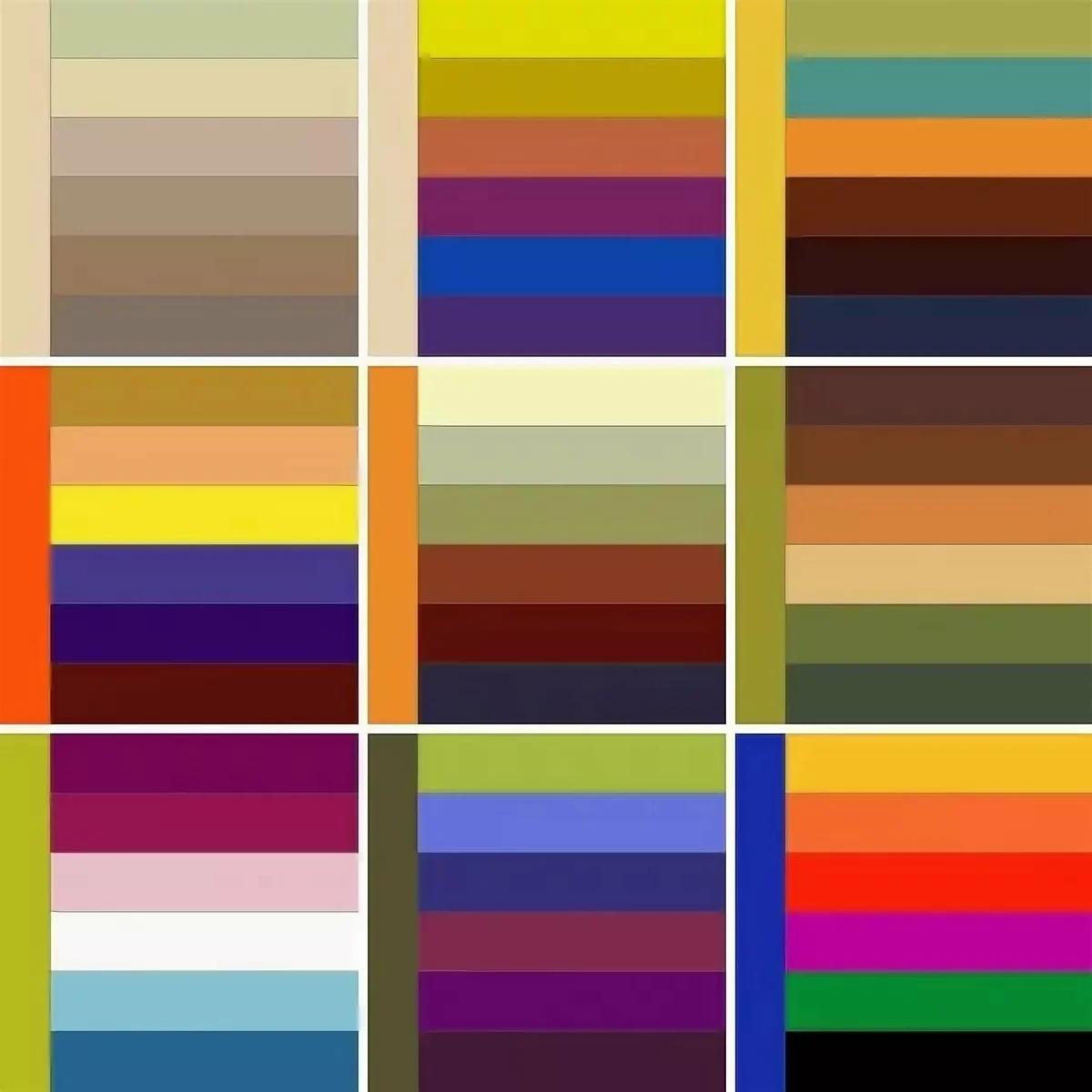 комбинации цветовой гаммы