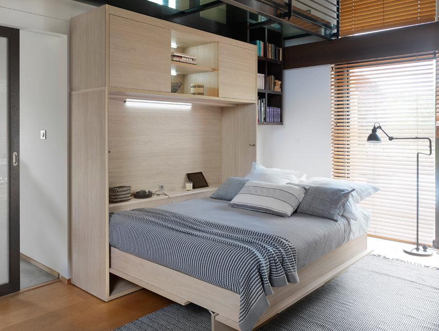 Кровать-трансформер в квартире с 1 комнатой