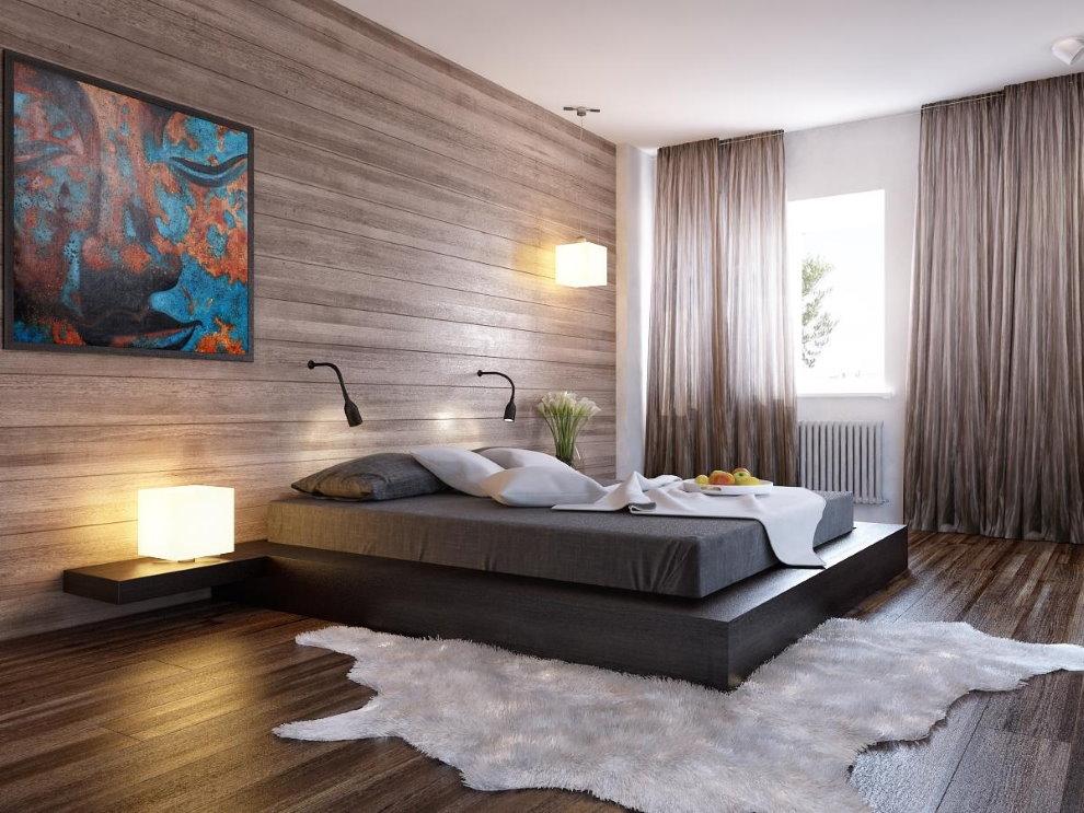 модерн в спальной комнате