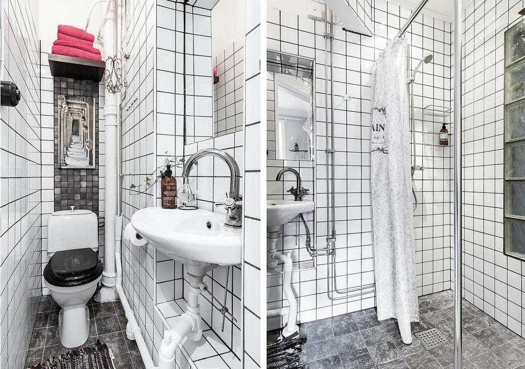 дизайн белой ванной комнаті