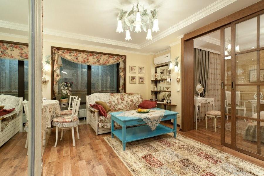 Интерьер однокомнатной квартиры в стиле прованса