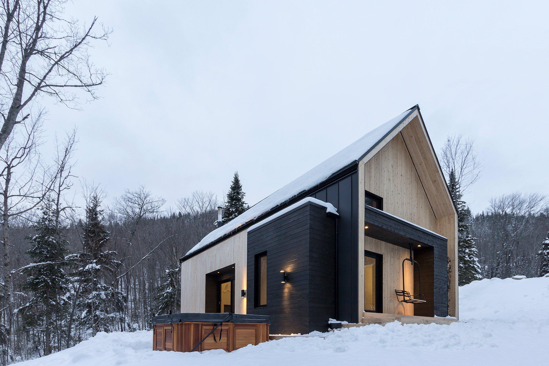 Дизайн дачного дома из дерева