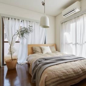 современная отделка спальни фото оформления