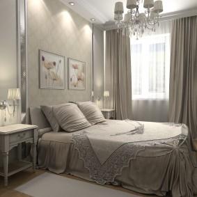 современная отделка спальни дизайн