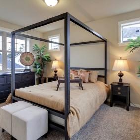 современная отделка спальни фото декор