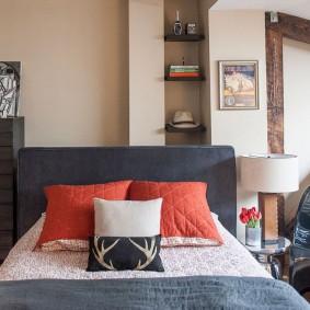 современная отделка спальни фото интерьер