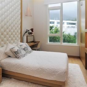 современная отделка спальни фото