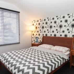современная отделка спальни фото декора