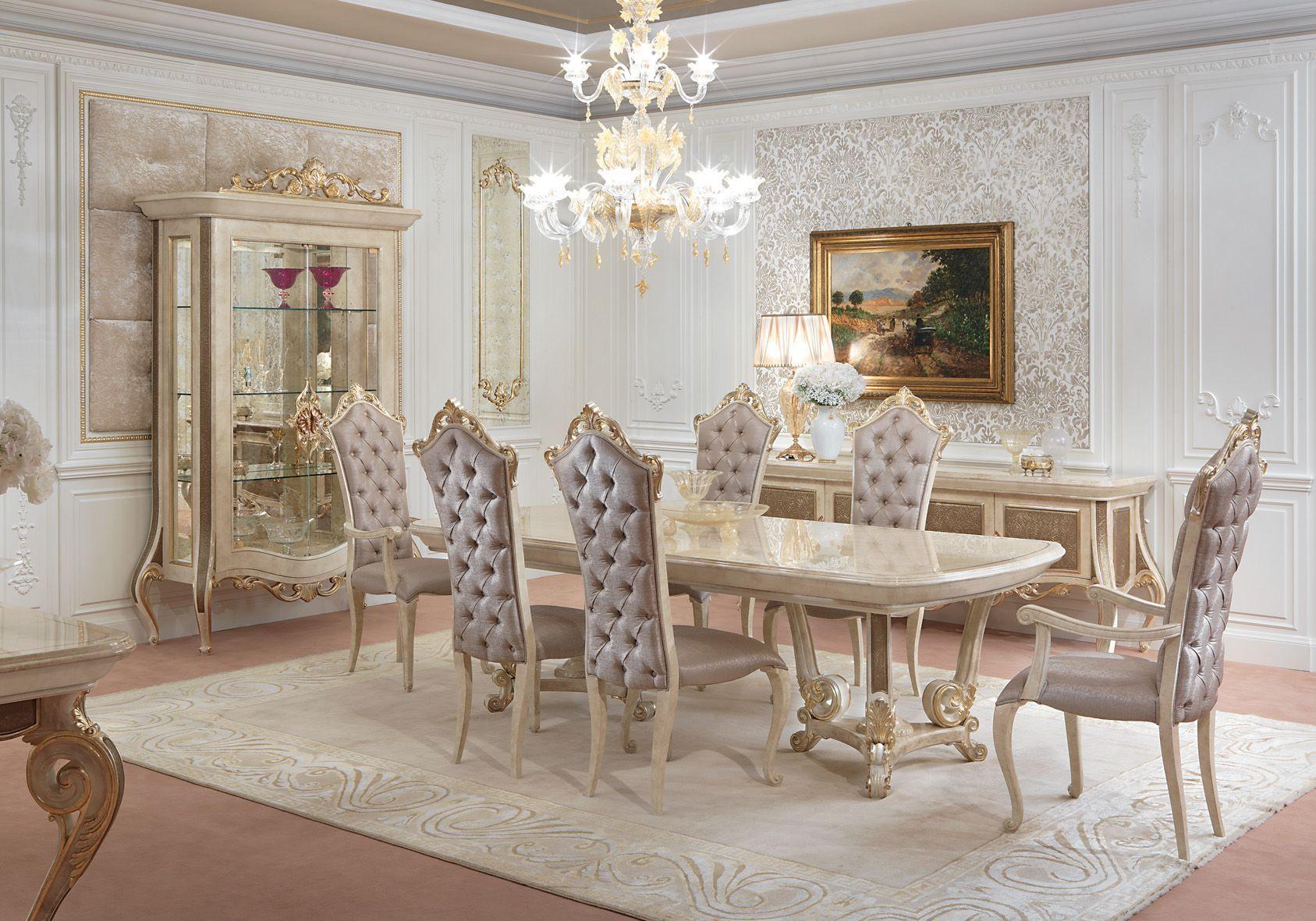 стол и стулья для гостиной барокко