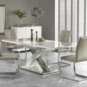 стол и стулья для гостиной дизайн фото