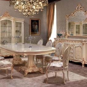 столы и стулья для гостиной идеи фото