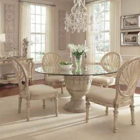 столы и стулья для гостиной фото дизайна
