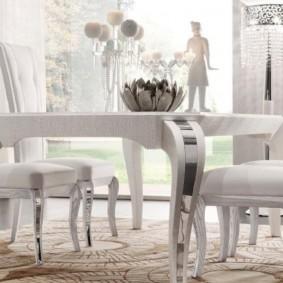 столы и стулья для гостиной декор идеи