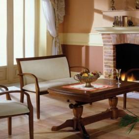столы и стулья для гостиной интерьер фото