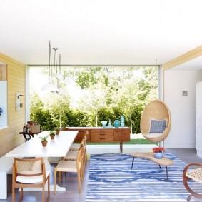 столы и стулья для гостиной оформление фото
