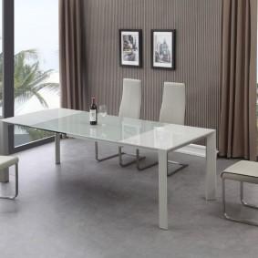 столы и стулья для гостиной виды фото