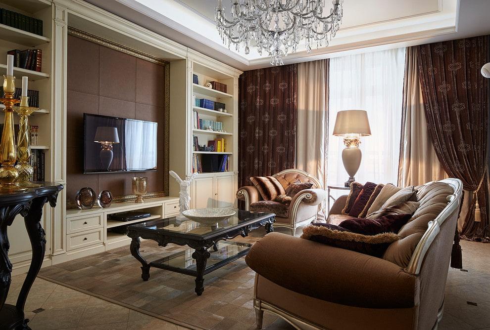 41805 Телевизор в стене гостиных комнат – варианты оформления зоны