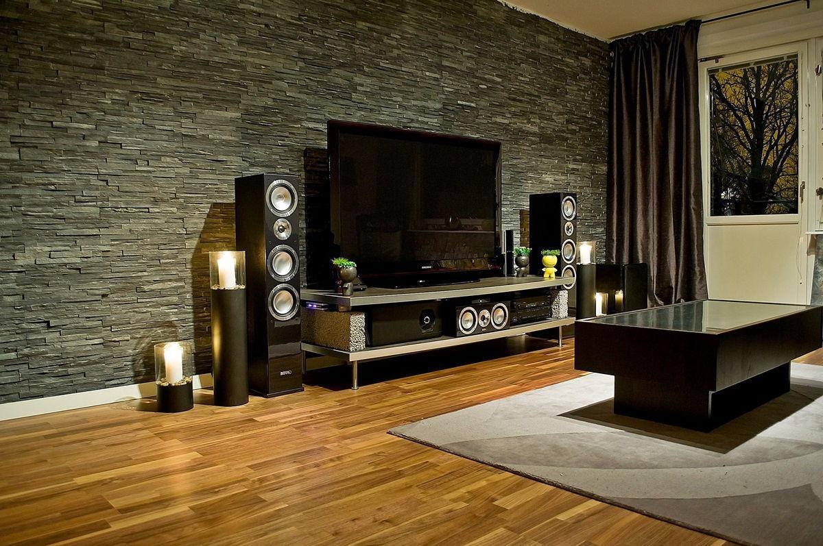 40967 Вариации выбора и оформления интерьера гостиной декоративным камнем