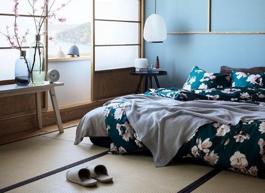 Оформление спальня в японском стиле интерьера