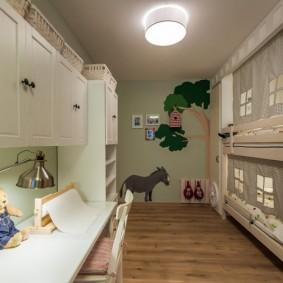 детская комната 10 кв м фото вариантов