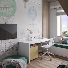 детская комната 10 кв м дизайн идеи