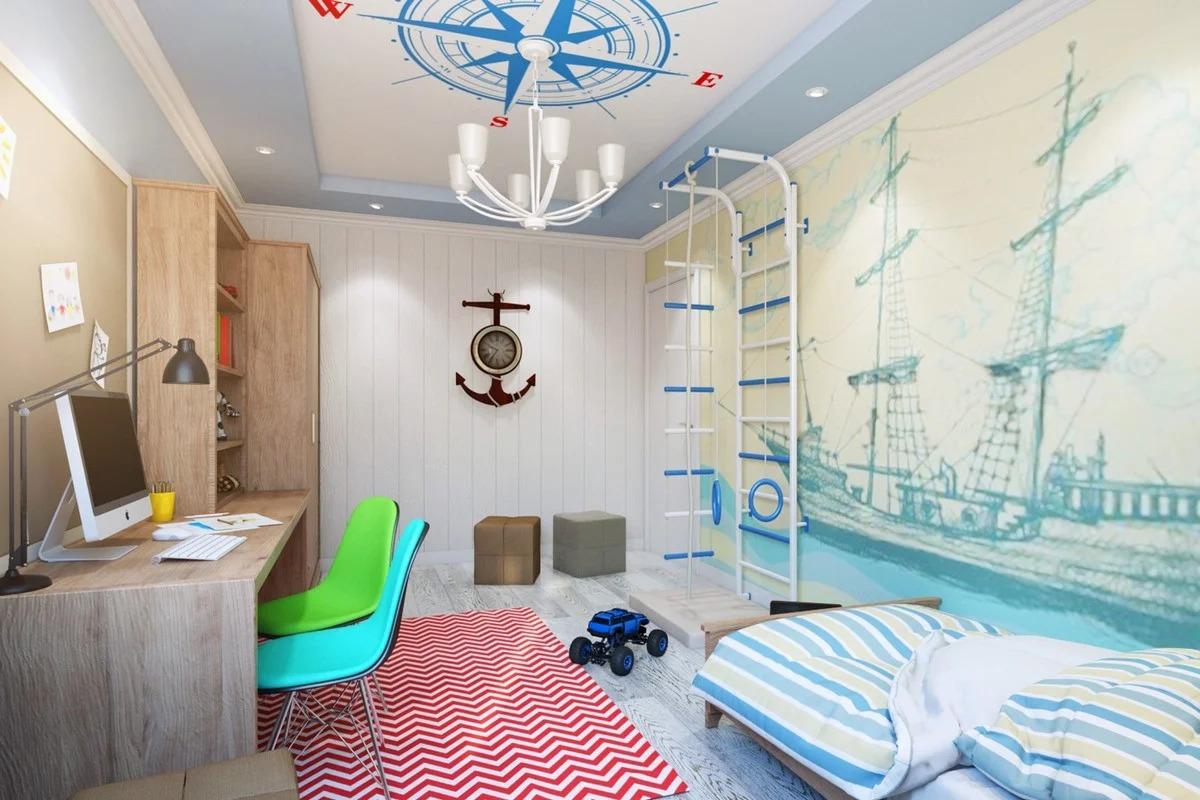 детская комната 10 кв м современная