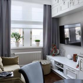 двухкомнатная квартира хрущёвка интерьер фото