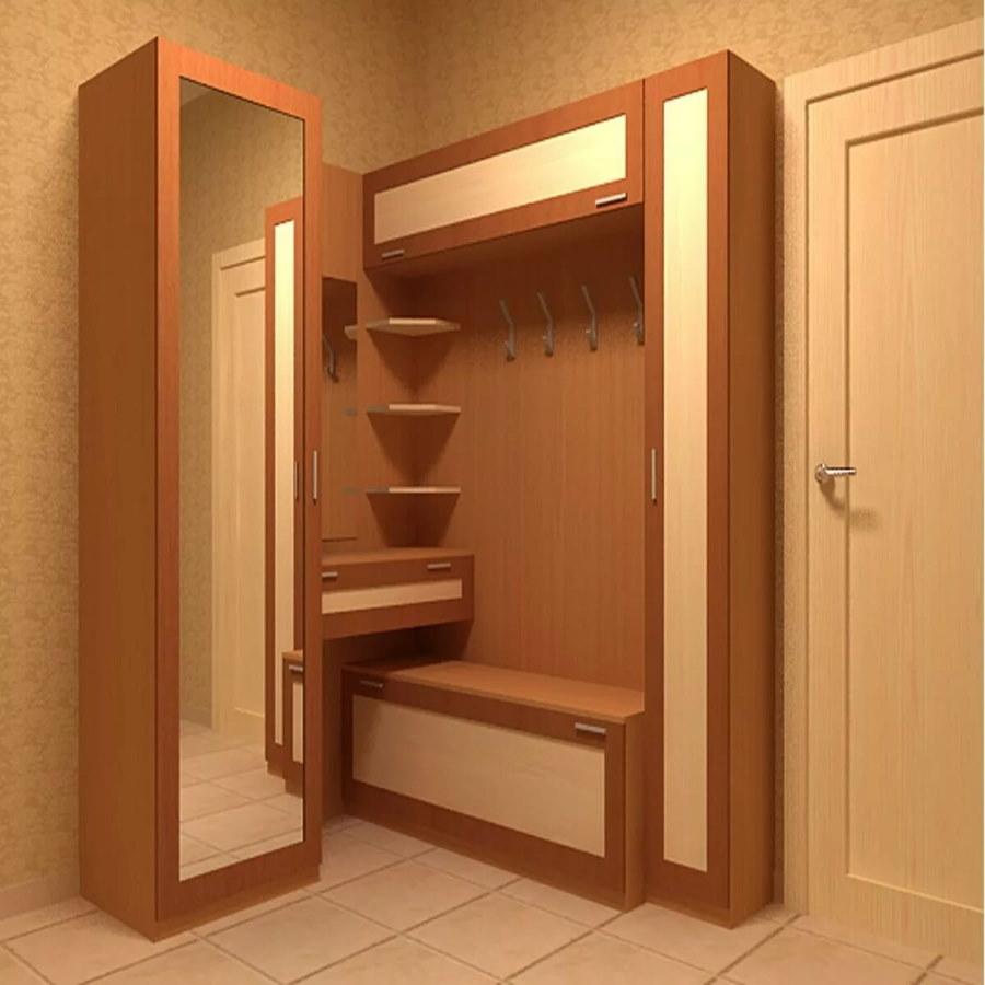 42631 Фотографии примеров угловых прихожих для маленького коридора