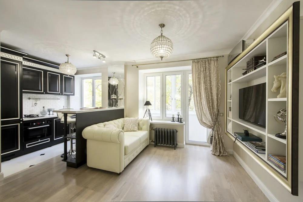 двухкомнатная квартира хрущевка классический стиль
