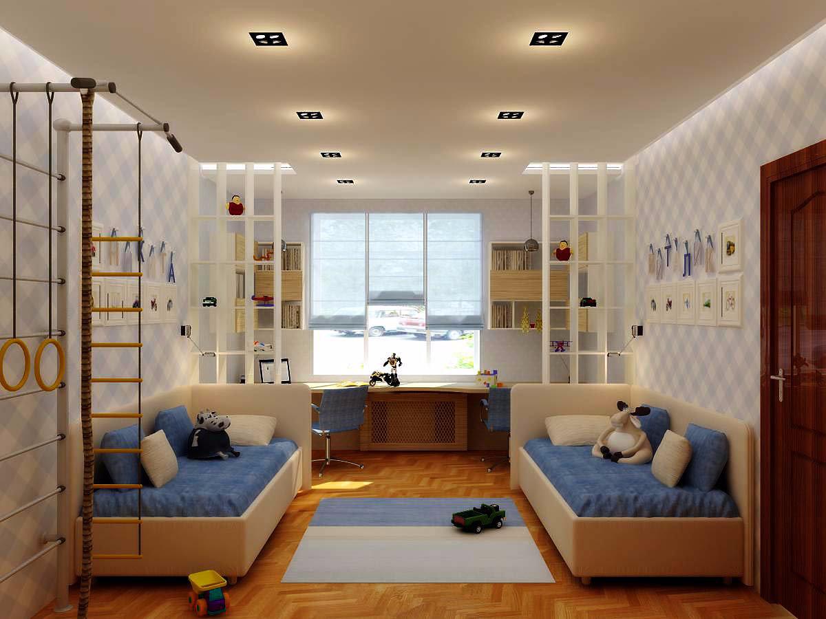 42742 Методы оформления дизайна комнаты для двух подростков мальчишек