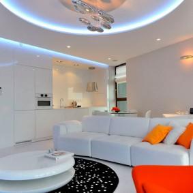 освещение квартиры студии