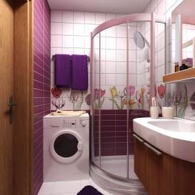 двухкомнатная квартира хрущёвка ванная комната