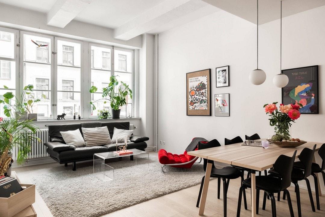 43566 Строгий минимализм и яркие цвета в одной квартире