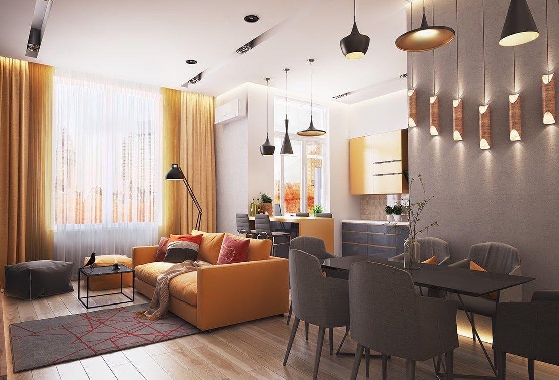 тёплый дизайн квартиры