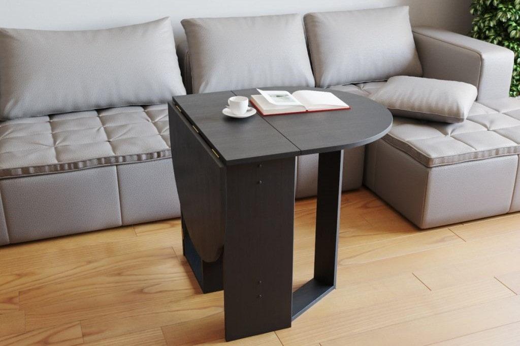 43441 Варианты раскладных столов-книжек в интерьер гостиных комнат