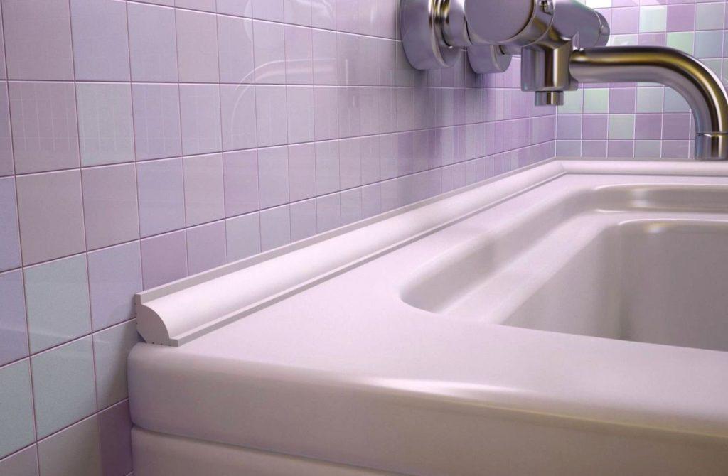 44392 Бордюры для ванн: разновидности и порядок монтажа пластикового защитного плинтуса