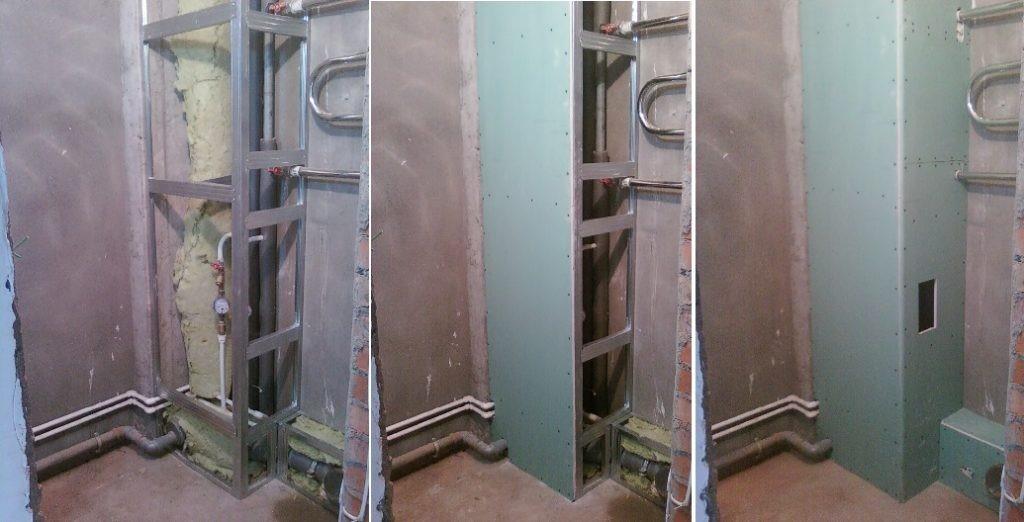 Как можно спрятать сантехнические трубы в ванной комнате, если нет возможности скрыть их внутри стены