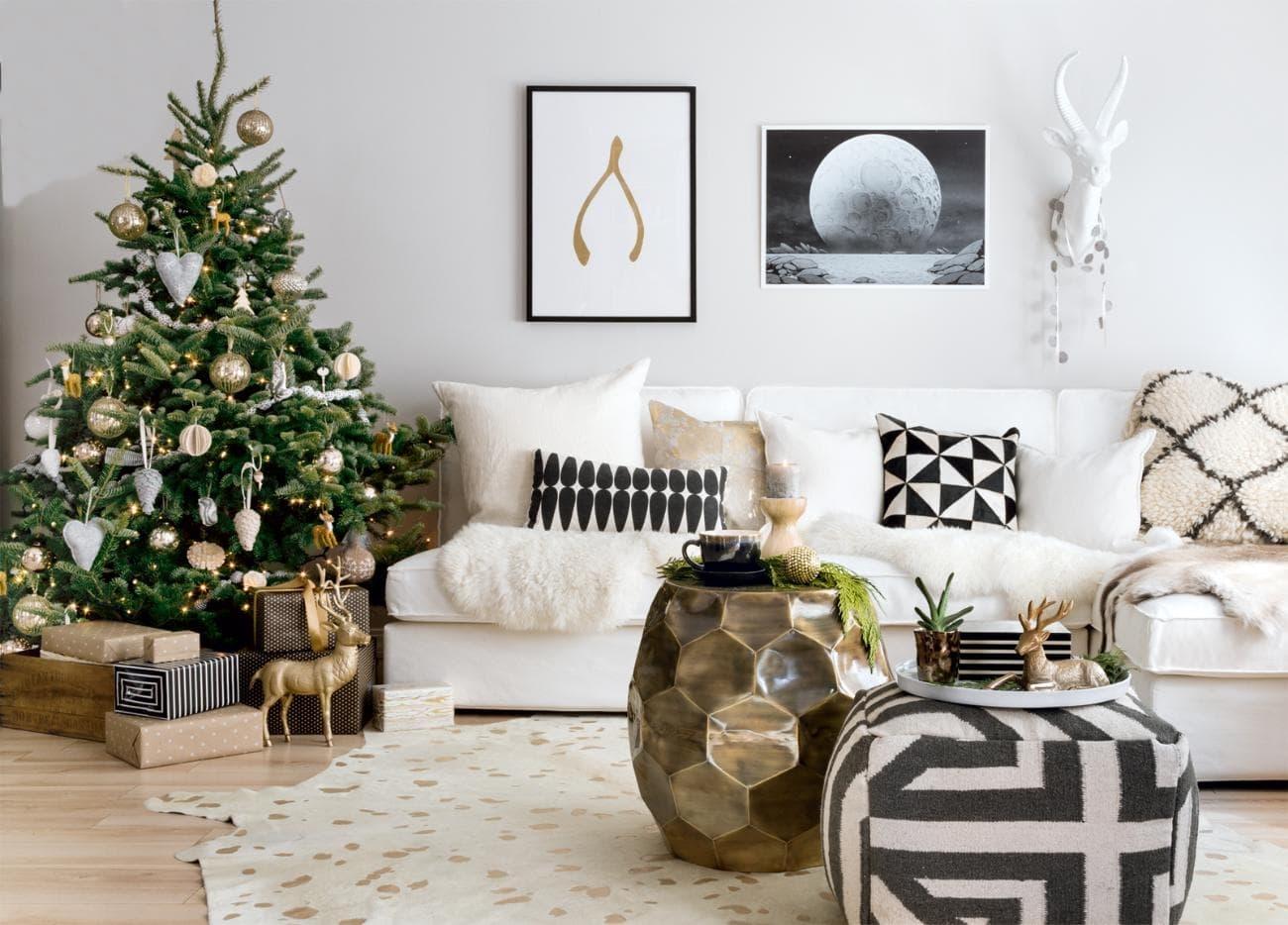 украсить гостиную к новому году