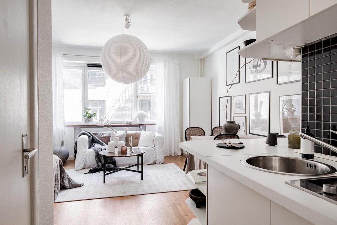 дизайн однокомнатной квартиры гостинки